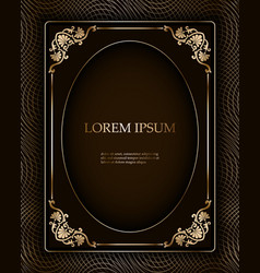 vintage luxury frame border as a template vector image