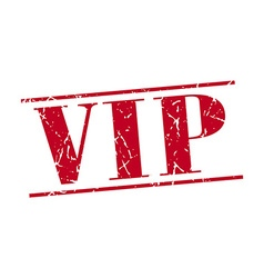 Vip red grunge vintage stamp isolated on white vector