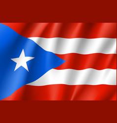 Waving flag puerto rico in caribbean sea vector