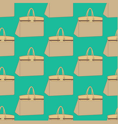 Woman bag pattern vector