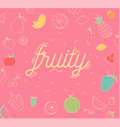 fruity icons design set vector image
