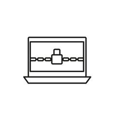 locked computer icon vector image