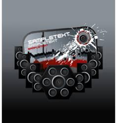 music speakers bloody design element vector image vector image