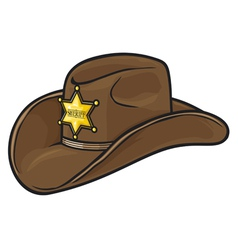 Old Western Sheriff Hat vector image vector image