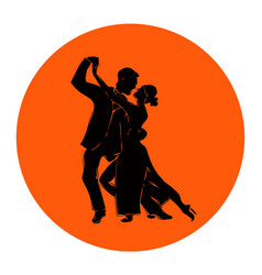 Salsa or argentine tango dancing couple man and vector