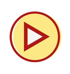 video media symbol to play film vector image