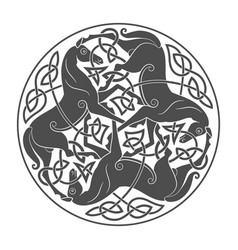 ancient celtic mythological symbol of horse vector image vector image