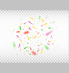 bright colorful confetti isolated on transparent vector image vector image