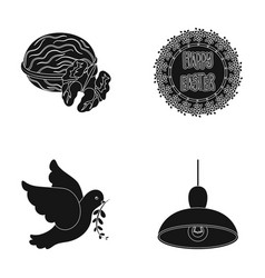 Cooking mail and other web icon in black style vector
