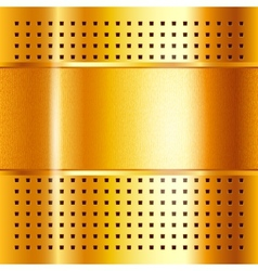 Gold template metallic background 10eps vector image vector image