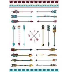 Indian arrows for hipster decor vector image vector image