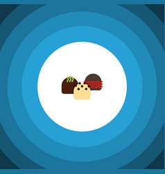 Isolated patisserie flat icon cake element vector