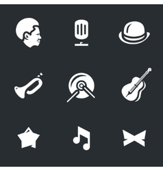 Set of Jazz Music vector image