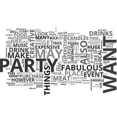 what makes an event fabulous text word cloud vector image