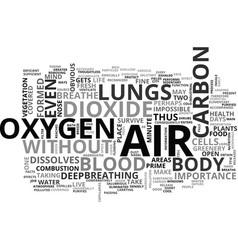Air bath and good health text word cloud concept vector