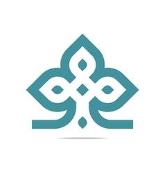 design element company letter symbol plant vector image