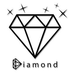 Diamond as a silhouette vector image vector image