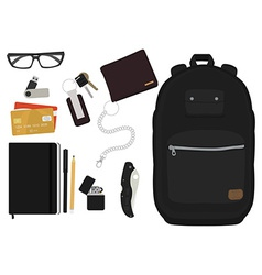 Every day carry man items No outlines vector image
