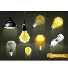Light bulbs icons vector image