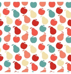 seamless fruit pattern- apple and pear vector image vector image