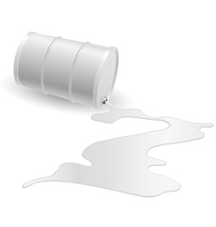 Barrel with white liquid vector image vector image