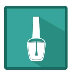 emblem nail polish icon vector image