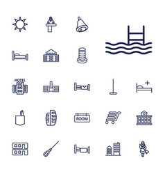 22 hotel icons vector