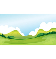 A green landscape vector image