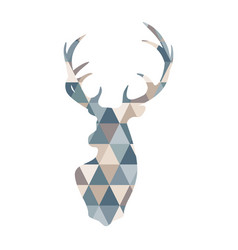 abstract geometric deer scandinavian deer vector image