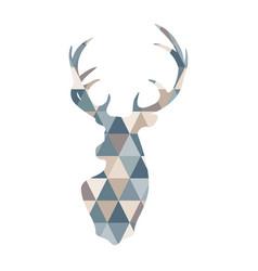 abstract geometric deer scandinavian style deer vector image