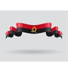 Angolan wavy flag vector image