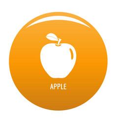 apple icon orange vector image