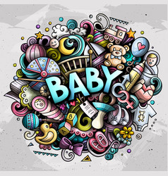 bahand drawn cartoon doodles vector image