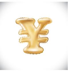 balloon symbol of yen or yuan realistic 3d vector image