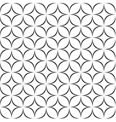 Black and white seamless star pattern vector