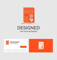 business logo template for business data finance vector image