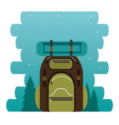 Camping zone with bag vector