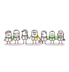 Cartoon doctors and scientists team vector