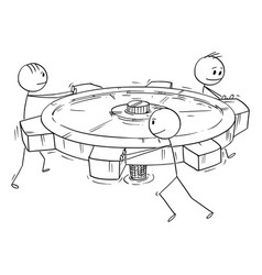 Cartoon group or business team men or vector