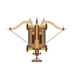 catapult icon medieval war weapon old white vector image
