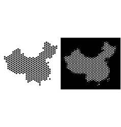 China map hex tile abstraction vector