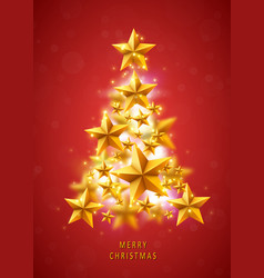 christmas and new years red background vector image