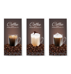 coffee advertising flyer set realistic vector image
