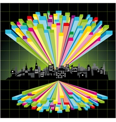 diagram city vector image