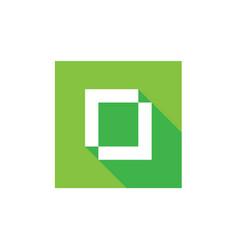 digital letter o logo alphabet o icon vector image