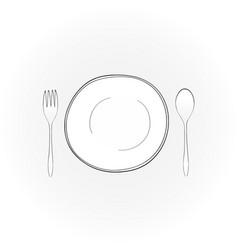 dining set symbol vector image