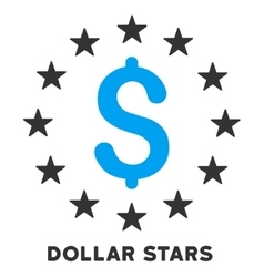 Dollar Stars Icon With Caption vector