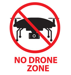 drone flights prohibited in thai area no drone vector image