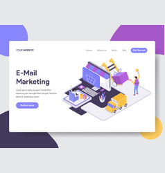 drop shipping isometric vector image