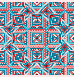 Ethnic tribal seamless pattern aztec style vector